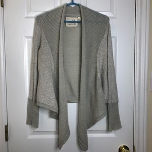 Anthropologie Angel Of The North Cardigan Grey MED